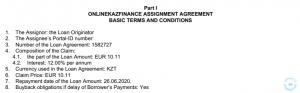 Acuerdo de préstamo IDF Eurasia